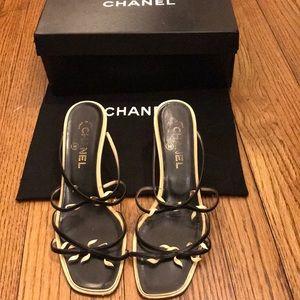 Strappy Sexy Black/Beige Chanel Sandal So pretty❤️